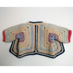 Baby Granny Square Jacket Pattern Crochet pattern by isWoolish - Kinder Ideen Crochet Afghans, Gilet Crochet, Crochet Jacket, Granny Square Crochet Pattern, Crochet Granny, Crochet Fall, Easy Crochet, Baby Patterns, Crochet Patterns