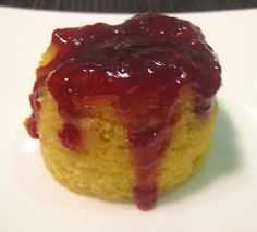 My Thermomix Kitchen - Blog for healthy low fat Weight Watchers friendly recipes for the Thermomix : Individual Raspberry Jam Steamed Puddings