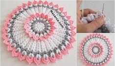River Flower Round Flowering Fiber Model Preparation - With 7 number Gehaakte . Crochet Flower Patterns, Crochet Designs, Crochet Doilies, Crochet Flowers, Filet Crochet, Crochet Stitches, Knit Crochet, Crochet Hats, Free Knitting