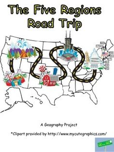 Students use a website to design a road trip through the 5 regions of the United States. They display their project on a Glogster.  Their Glogster includes descriptions of their stops and the latitude and longitude of at least 3 stops. As well, students must find the continental divide in the US and plan a stop there.