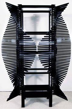 Sebastian Errazuriz creates Samurai Cabinet from 364 moveable ribs