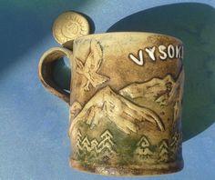 VTG #Slovakia #Slovensko #Pottery #VYSOKE #TATRY #Ceramic #MUG #Cup #LIPTOV #Keramika #Rare
