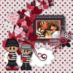 And… who is this little Love Bandit?    Love Bandit by BoomersGirl Designs Available at: http://store.gingerscraps.net/Love-Bandit-BGD.html With Heartful Template by Kreative Design Studio @  https://www.etsy.com/listing/491331574/heartful-digital-scrapbooking-templates?ref=shop_home_active_7