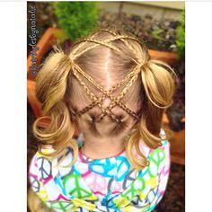 """Adorable criss-crossed micro braids to pigtails!  Credit: @hairstylesbynatalie ❤️"" Photo taken by @braidsforlittlegirls on Instagram, pinned via the InstaPin iOS App! http://www.instapinapp.com (03/23/2015)"