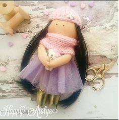 Handmade Doll, Textile Doll-Fabric Doll, Rag Doll, Home Decoration, Handmade Toy