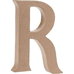 Uppercase R Craft Letter - $3.75 A little bright green paint will make this a cute backdrop to the dessert table!