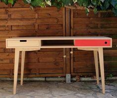 Office Scandinavian style in oak. by Woodareyou on Etsy
