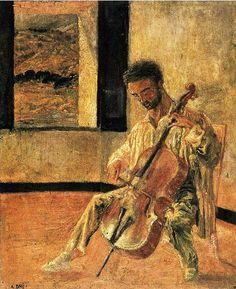 Dali, Salvador (1904-1989) - 1920 Portrait of the Cellist Ricard Pinchot