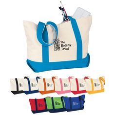 Classic Custom Boat Tote  Made of 12 oz. water resistant canvas this Classic Custom Boat Tote will definitely keep your brand afloat when it is imprinted with your custom logo.