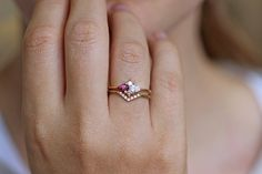Pear Diamond Cluster Ring In Set