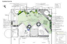 Back Garden Design, Garden Design Plans, Modern Garden Design, Small Balcony Garden, Narrow Garden, Sloped Garden, Landscape Plans, Landscape Design, Landscape Drawings