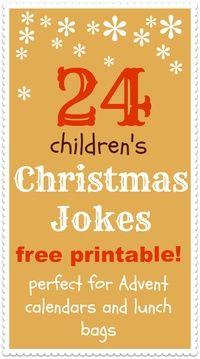 Christmas jokes for kids printableNurtureStore