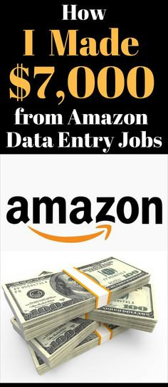 Data Entry Jobs from Home - How I Made $7,000 from Amazon Data Entry Jobs from Home. Work From Home Moms, Make Money From Home, Way To Make Money, Money Fast, Work From Home Canada, Earn Money Online, Make Money Blogging, Money Tips, Money Budget