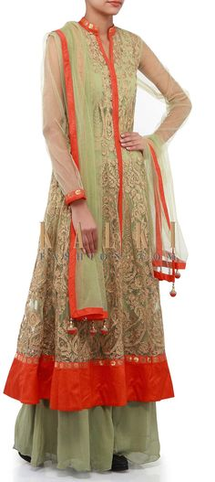 Buy Online from the link below. We ship worldwide (Free Shipping over US$100). Product SKU - 273739. Product Link - http://www.kalkifashion.com/olive-green-anarkali-suit-adorn-in-zari-embroidery-only-on-kalki.html