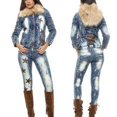 FOGGI women's jeans + denim jacket trousers skinny jeans hipsters 34 - 38 # Source b Jeans Denim, Jacket Jeans, Skinny Jeans, Pants, Dame, Hipsters, Trousers Women, Tops, Collections