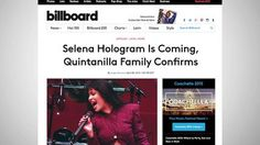 Late Superstar Selena To Get A Hologram http://dai.ly/x2m79k2/164357