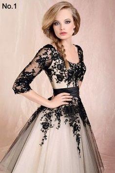 Black Ivory Lace Half Sleeve Bridesmaid Dress Evening Prom Party Formal Custom | eBay