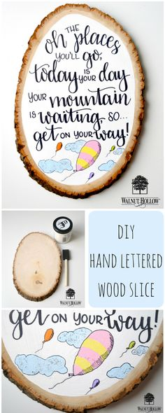 DIY Hand Lettered Basswood Plaque -- the perfect gift for the recent graduate!