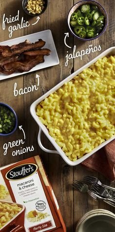 Create your next signature sensation with a build-your-own Mac & Cheese bar. Macaroni Cheese, Mac Cheese, Mexican Food Recipes, Dinner Recipes, Cheese Bar, Pasta, I Love Food, Food Porn, Food And Drink
