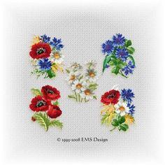 Free Violet Flower Cross-Stitc  
