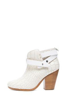 rag & bone|Harrow Embossed Leather Boots in White [1]