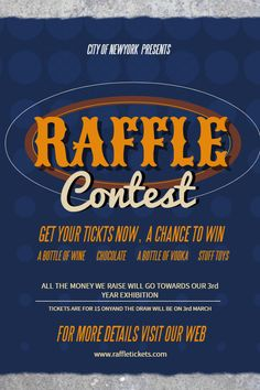 Raffle Flyer Template For Giveaways  Contest Posters