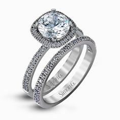 An exclusive design by Simon G., the MR1840-A Engagement Set is a stunning piece of jewelry sure to please. Check out this designer piece today!