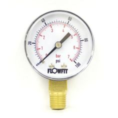 30HG 63mm Hydraulic Pressure Gauge Base Entry +60psi