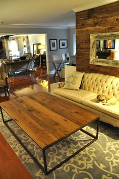 the ADAMS Coffee Table  Reclaimed Barn Wood by hautehabitats, $800.00