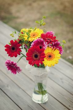 Gerberas - my favourites, if anyone wanted to know ;)