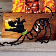 puppy dog skeleton #candle holder by #PartyLite #halloween