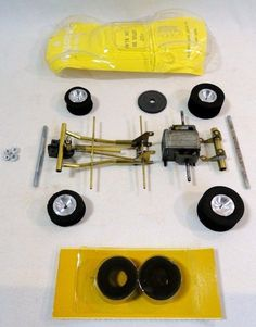 Pactra Lotus slot car with Cox chassis and Pittman motor.