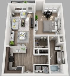 View floor plans, photos, and community amenities. Make South Side Flats your new home. Apartment Layout, One Bedroom Apartment, Apartment Design, House Floor Design, Small House Design, Sims House Plans, House Floor Plans, India Home Decor, Room Design Bedroom
