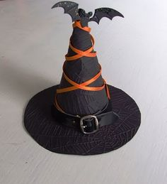 crafts halloween witch hat