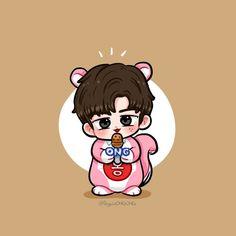 Ong Seung Woo, Daniel K, Seong, 3 In One, Kpop, K Idols, Cute Art, Minnie Mouse, Disney Characters