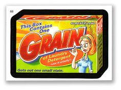 Wacky Packages Topps 6th Series 2007 Sticker: Grain - #66