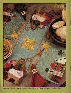 camino quilts christmas by ana999.rm--Star of Wonder Table Runner, Bethlehem place mats