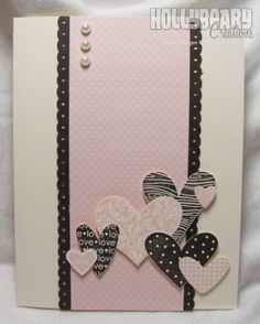 I like pink and brown together...very simple card