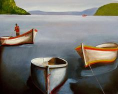 Three Boats by Yolande Havenga Principles Of Art, Elements And Principles, Painting, Selling Art, Art, Selling Art Online, Saatchi Art, South African Artists, Prints