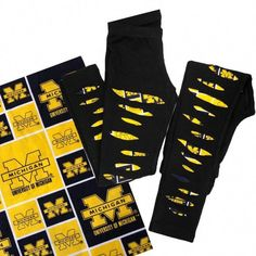 How awesome are these ripped University of Michigan leggings! They can also be made as joggers (example pictured) This grey or black legging or jogger style is backed with Michigan fabric to keep legs from getting cold. - By Rock and Tulle Boutique Toddler Fall Fashion, Girls Fall Fashion, Tween Fashion, Baby Girl Fashion, Trendy Fashion, Leggings Outfit Summer, Baby Girl Leggings, Toddler Leggings, Cute Outfits For Kids