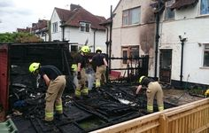Shed fire at Caversfield