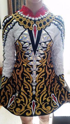 Sublime Black Gavin Doherty Irish Dance Dress Solo Costume For Sale