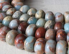 African Opal 8x5mm Rondelle Beads Jewelry by funkyprettybeads