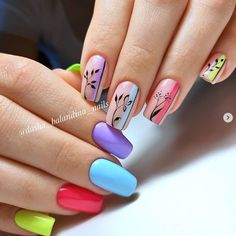 Star Nail Art, Rose Nail Art, Rose Nails, Gel Nail Art, Flower Nails, Nail Manicure, Simple Nail Art Designs, Best Nail Art Designs, Stylish Nails