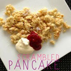 lidt om alt - og meget om mad: om offline-tid + opskift på 'scrambled pancake' (LCHF)