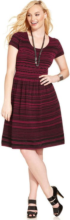 Jessica Simpson Plus Size Short-Sleeve A-Line Sweater Dress http://stylesvogue.com/topic/dresses/