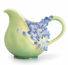 Lily of the Nile Porcelain Creamer