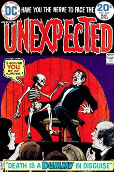 """Lmao! What - this guy STOLE some guy's skeleton, or what?!? A great cover nevertheless, as I'm ALWAYS a sucker for psycho ventriloquist tales, from 1964's cool """"Devil Doll"""" film on up. :-D"""