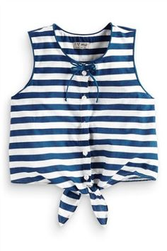 Buy Tie Front Blouse (3-16yrs) from the Next UK online shop