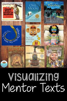Mentor texts are an amazing way to model and teach students a reading strategy! These are a few of my favorites to teach visualizing! Guided Reading Lesson Plans, Reading Lessons, Reading Activities, Reading Skills, First Grade Reading, Student Reading, Teaching Reading, Free Kids Books, Reading Comprehension Strategies